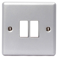 BG Electrical Metal Clad 2G Light Switch MC542