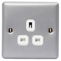 BG Electrical Metal Clad Single Unswitched Socket MC523