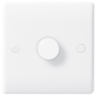 BG Electrical Nexus White Moulded 1 Gang Dimmer 1000W  885P