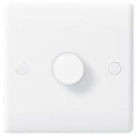 BG Electrical Nexus White Moulded 1 Gang Dimmer 881P