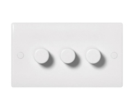 BG Electrical Nexus White Moulded 3 Gang Dimmer 883P