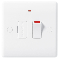 BG Electrical Nexus White Moulded Switched Spur Neon 852