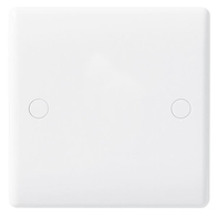 BG Electrical Nexus White Moulded 1 Gang Blank Plate 894