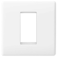 BG Electrical Nexus White Moulded 1 Module Euro Plate 8EMS1