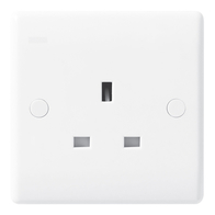 BG Electrical Nexus White Moulded 1G Unswitched Single Socket 823