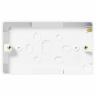 BG Electrical Nexus White Moulded 2 Gang Surface Pattress 32mm 892