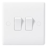 BG Electrical Nexus White Moulded 2G 2W Switch 842