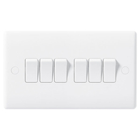 BG Electrical Nexus White Moulded 6G 2W Switch 846