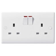 BG Electrical Nexus White Moulded SP Double Socket 822