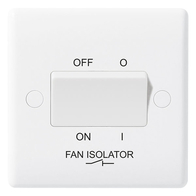 BG Electrical Nexus White Moulded Fan Isolator Switch 815