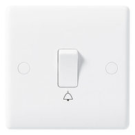 BG Electrical Nexus White Moulded Retractive Bell Push Switch BG-814