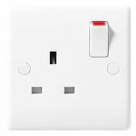 BG Electrical Nexus White Moulded DP Single Socket 821DP