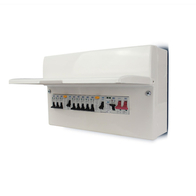 BG Electrical Populated Dual RCD & SPD Consumer Unit With 8 MCB'S CFUDP16608SPD