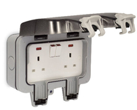 BG Electrical Weatherproof Double Socket WP22