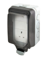 BG Electrical Weatherproof Large Housing Single Socket WP23L
