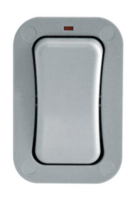 BG Electrical Weatherproof Single Slim Light Switch WP12S