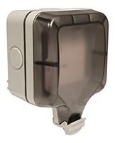 BG Electrical Weatherproof Single Socket WP21