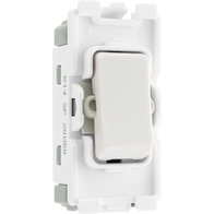 BG Electrical White Moulded 1 Way Retractive Grid Switch New Style R14