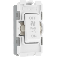 BG Electrical White Moulded 10A 3 Pole Fan Isolator Grid Switch New Style R15