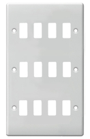 BG Electrical White Moulded 12G Grid Plate G812