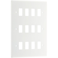 BG Electrical White Moulded 12G Grid Plate New Style R812