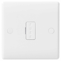 BG Electrical White Moulded 13A Unswitched Fused Spur 854