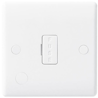BG Electrical White Moulded 13A Unswitched Fused Spur With Flex Outlet 855