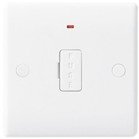 BG Electrical White Moulded 13A Unswitched Fused Spur With Flex Outlet and Indicator 857