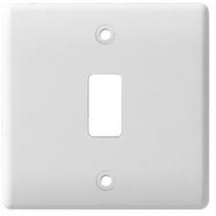 BG Electrical White Moulded 1G Grid Plate G81