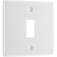 BG Electrical White Moulded 1G Grid Plate New Style R81
