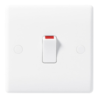 BG Electrical White Moulded 20 Amp Double Pole Switch 830