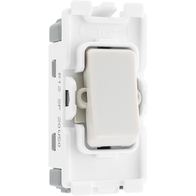 BG Electrical White Moulded 20AX 2 Way Grid Switch New Style R12