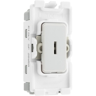 BG Electrical White Moulded 20AX 2 Way Key Grid Switch New Style R12KY