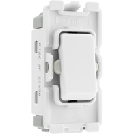 BG Electrical White Moulded 20AX 2 Way Single Pole Centre Off Grid Switch New Style R12C
