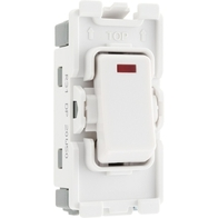BG Electrical White Moulded 20AX Double Pole Grid Switch Neon New Style R31