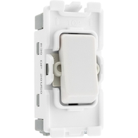 BG Electrical White Moulded 20AX Double Pole Grid Switch New Style R30