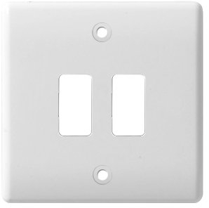 BG Electrical White Moulded 2G Grid Plate G82
