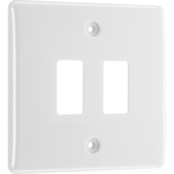 BG Electrical White Moulded 2G Grid Plate New Style R82