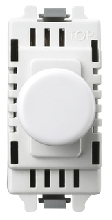 BG Electrical White Moulded 400W 2 Way Push Dimmer Grid Switch GD400