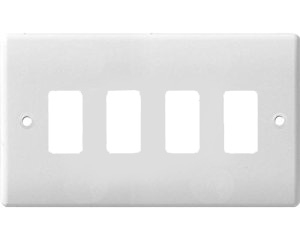 BG Electrical White Moulded 4G Grid Plate G84