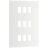 BG Electrical White Moulded 9G Grid Plate New Style R89
