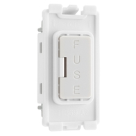 BG Electrical White Moulded Grid Fuse Holder New Style RFUSE