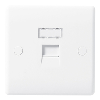 BG Electrical White Moulded RJ45 Socket 8RJ45/1