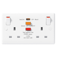 BG Electrical White Moulded SP Double Socket With RCD 822RCD
