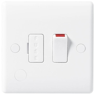 BG Electrical White Moulded Switched Spur With Flex Outlet 851
