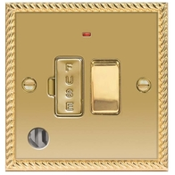 BG Georgian Brass 13A Switched Spur Neon & Flex Outlet NBG53