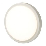 BG Luceco EBH28S40 Eco Round Decorative White & Chrome Bulkhead 280mm IP54 4000K 18W
