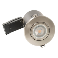 BG Luceco GU10 Fire Rated Downlight Adjustable Brushed Steel EFDGUABS