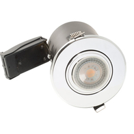 BG Luceco GU10 Fire Rated Downlight Adjustable Polished Chrome EFDGUAPC