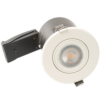 BG Luceco GU10 Fire Rated Downlight Adjustable White EFDGUAWH